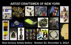 "Elizabeth BouRaad. ""Artist-Craftsmen of New York"" Group show at New Century Artists Gallery, October 21- November 1, 2014."