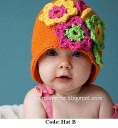 Preciosos Gorros Tejidos A Mano Para Bebes Y Niños