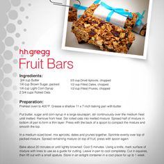Try these fruit bars for a quick breakfast treat or a mid-day snack! #FoodieFriday