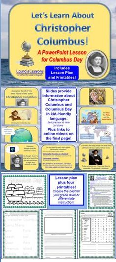 Everything you need for a Columbus Day lesson with worksheets and lesson plan included for K-2 A best-seller! $