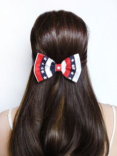 American+Flag+Bow+4th+of+July+print+Bow+Flag+hair+by+CutieCuteBows,+$4.99