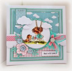 card idea, valley stamp, pink piggi, lotv card, lotv stamp