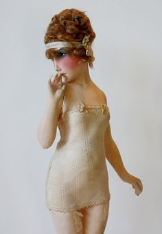 1920s Lingerie Fashion Model Mannequin - art doll