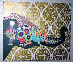 Moroccan//Bohemian//Indian Decorative Elephant by averycampbellART, $100.00