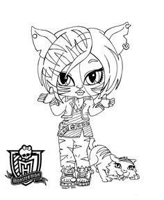 Baby Monster High Coloring Pages | Baby Monster High Character Free Printable Coloring Pages