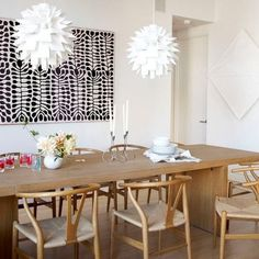 Large art above table