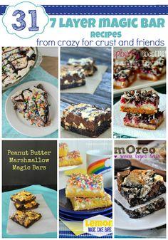 31 Seven Layer Magic Bar Recipes | CrazyforCrust.com