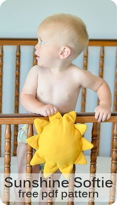 This baby sofite is so cute and it looks easy to sew!  I know just who I want to make this for.