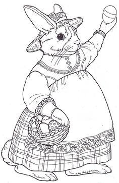 Easter Egg Mural Madeline Bunny