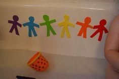 rainbow foam tub toys