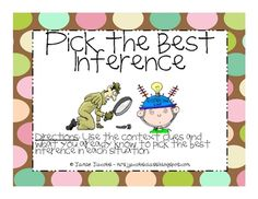 Here is a fun and engaging game that you can play with whole group to practice the skill of making inferences! Repinned by SOS Inc. Resources @sostherapy.