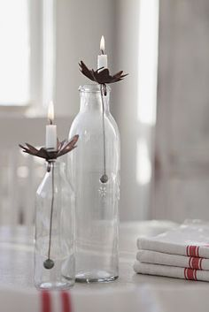 Adorable use for old bottles