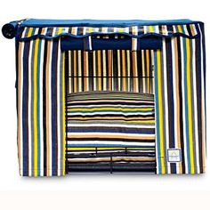 Coastal Dog Beds | Cabana Stripe Crate Cover | CoastalLiving.com