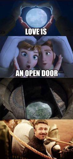 Frozen meets Game of thrones!!