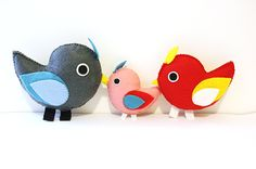 Sweet Felt Birds Family PDF Pattern