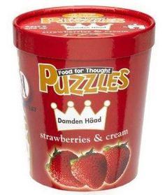 In honour of National Ice Cream Day, how about a tub of jigsaw puzzle? It's a Food for Thought puzzle called Damden Haad Strawberries and Cream. #icecream #jigsawpuzzles
