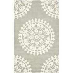 Handmade Soho Chrono Grey/ Ivory New Zealand Wool Rug (5'x 8')