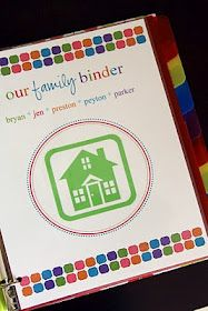 Great family binder ideas