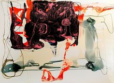 Dale Frank // The older he got the more his DNA changed to resemble that of a Gibbon, 2012 [varnish on canvas]