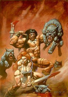Conan & Red Sonja by Alex Horley