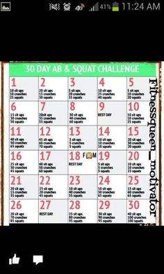 Ab and squat challege
