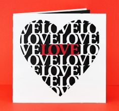 Love Heart Card by Bird