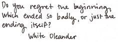 White Oleander Quote