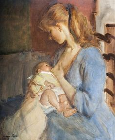 Norman Hepple    Mother and child