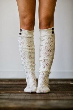 Adorable cute knitted boot socks!