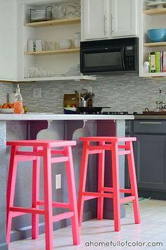Kitchen Barstool Revamp