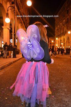 Disfraz de hada mariposa con tutú.