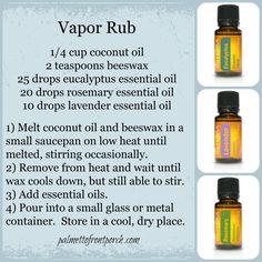 DIY Vapor Rub with doTERRA essential oils