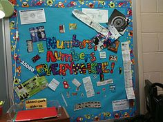 Place Value Bulletin board scavenger hunt! So cute!