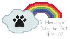 In Memory of Your Best Friend Dog Rainbow Bridge Counted Cross Stitch Pattern PDF. $3.00, via Etsy.