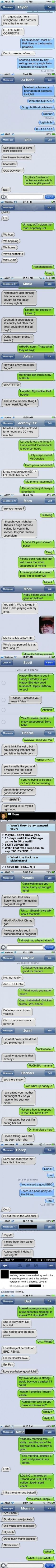 Best autocorrects of 2012.... I died laughing!!