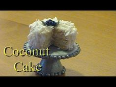Polymer Clay Tutorial: Coconut Cake - YouTube
