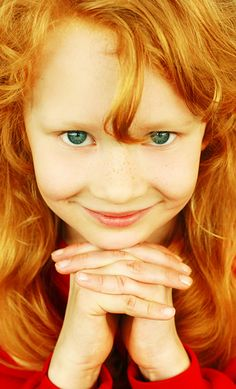red-haired & green eyes- pretty