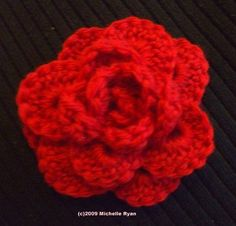 Rose Brooch - Crochet Me