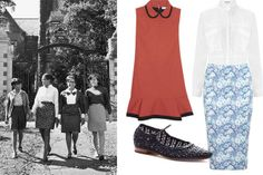 We might all be off-campus now, but school style rules still apply.  How to Master the Preppy Look - 7 Sisters Style - Elle