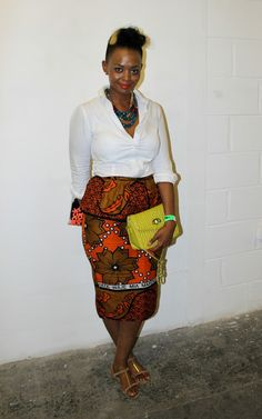 VAKWETU STYLE: STREET STYLE | AFRICAN PRINT PENCIL SKIRT | Africa Fashion Week London 2013