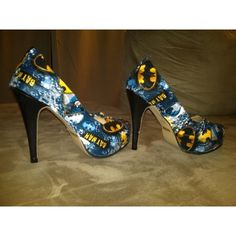 Batman Shoes ❤ liked on Polyvore