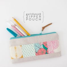 patchwork pouch by Vanessa Hewell