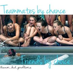 friends, teammat, team support, team girl, swim team