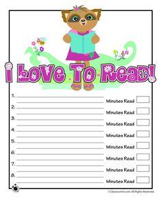 Printable Reading Logs Cute Printable Reading Log – Classroom Jr.
