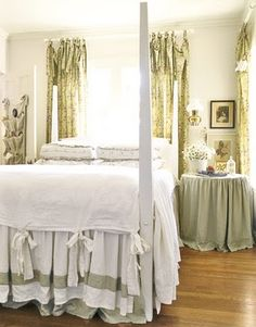 country cottages, beds, apart decor, guest bedrooms, bedroom bedding, countri cottag, barn apart, bow, master bedroom