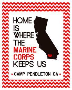 Home Is Where The Marine Corps Keeps Us.