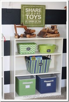 Organizing toys - A Thoughtful Place Love it! Add to playroom somehow @Ambrecca Mcdonald