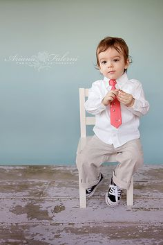 GOAL for Easter!.  GET HENRY A TIE.  SIT HIM IN A CHAIR....