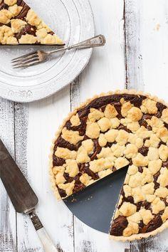 Nutella Swirl Brownie & Sugar Cookie Tart (minus the nutella)