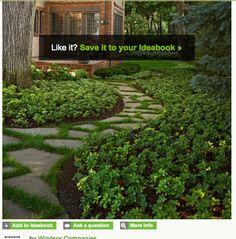 pisos english backyard, beauti yard, garden beauti, backyard someday, garden paths, shade garden, front yards, garden dese